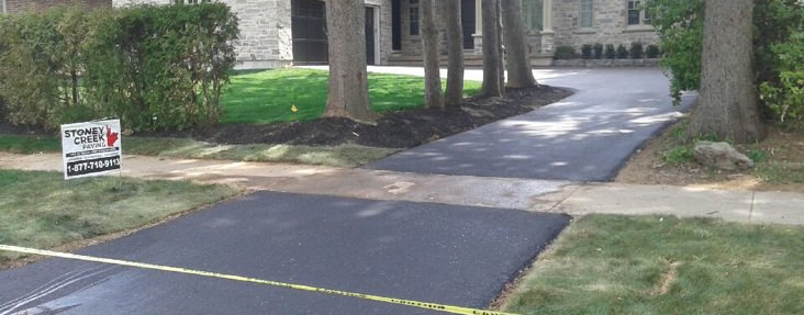 Home driveway paving job Hamilton mountain